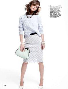 Rose Byrne, all white