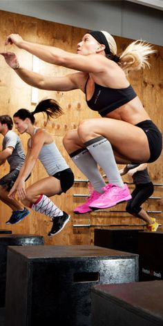 Crossfit has gone mainstream. Still love it. And these box jumps? KILL the thigh fat. LOVE to hate 'em!