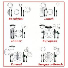 Here's a quick recap of the table settings. Different occasions......different table setting rules! #STAYTUNED at www.elvy.com .