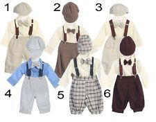 New Baby Boys Knickers Vintage Suit Outfit Christmas Easter Wedding Party Fancy