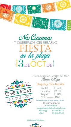 Save the Date Mexican Wedding