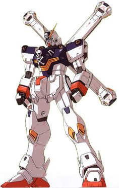 "The XM-X1 Crossbone Gundam X-1 Kai Kai ""Skull Heart"" is a mobile suit which appears in the manga Mobile Suit Crossbone Gundam: Skull Heart and Mobile Suit Crossbone Gundam: Steel 7."