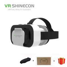 950fba7bfc45 Casque Headset Vr Box Shinecon Virtual Reality Glasses 3D Helmet 3 D Google  Cardboard For Smart
