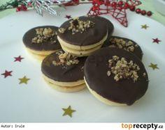 Margotková kolečka Czech Recipes, Christmas Cookies, Oreo, Baking Recipes, Sweet Tooth, Pancakes, Cheesecake, Food And Drink, Pudding
