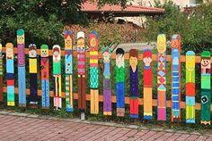 #garden#outdoors#cerca#colores#color#recicla#palets#kids#kindergarten#bquilla#fsl_bquilla#landscape. Cercas novedosas para jardines en el exterior. #family Usuario: fsl_bquilla Fuente: