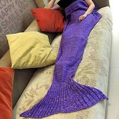 Home & Garden Home Décor Fashion Uk Womens Ladies Knitted Mermaid Fishtail Lapghan Cocoon Warm Cozy Blank Fragrant Aroma