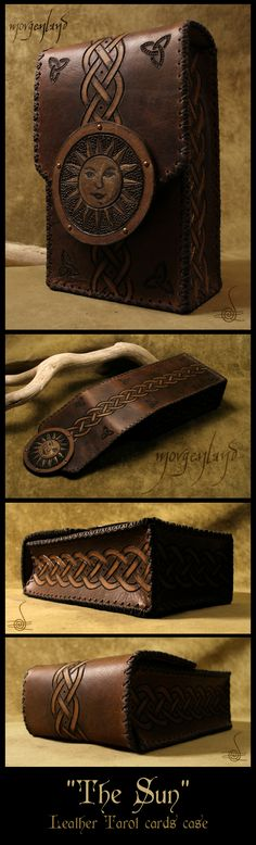 'The Sun' - Leather tarot cards case by morgenland.deviantart.com on @deviantART
