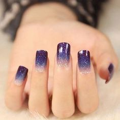 Nails coffin purple パープルネイルのアイデア for 2019 Purple Glitter Nails, Purple Nail Art, Purple Nail Designs, Simple Nail Art Designs, Easy Nail Art, Purple Sparkle, Floral Designs, Dark Purple, Violet Nails