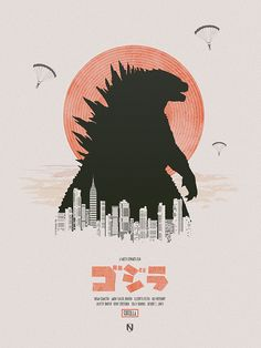 Godzilla (2014) ~ Minimal Movie Poster by Matt Needle #amusementphile