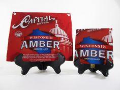 Wisconsin Amber Beer Coaster