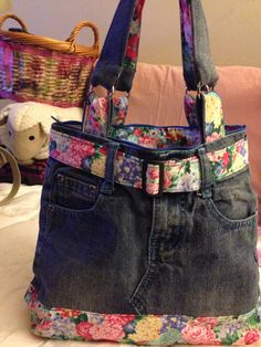 My jeans recycle purse