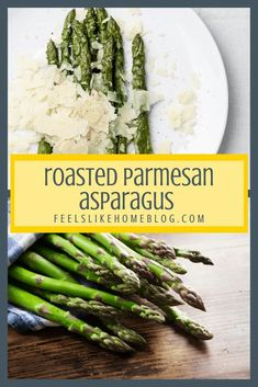 How to roast asparagus - This amazing garlic parmesan roasted asparagus recipe is the best you'll ever eat. Baked on a sheet pan in the oven, it is simple and easy and super healthy. The cheese makes it a perfect side dish for any meal including brunch. Parmesan Asparagus, Roast Asparagus, Asparagus Salad, Garlic Parmesan, Roasted Garlic, Grilled Asparagus, Gluten Free Cooking, Cooking Recipes, Healthy Dishes