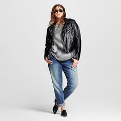 Women's Plus Size Minimal Moto Jacket - Who What Wear™ : Target