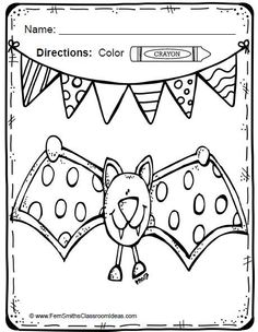 Spiders and Bats Fun! Color For Fun Printable Coloring Pages {36 coloring pages equals less than 10 cents a page.} #Free Reading Spider Fun Printable Coloring Page in the Preview Download!