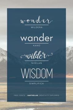 From IAMTHELAB.com: Free Fonts: Noelan, Simplifica, Kano & Wildera   #Featured #Fonts