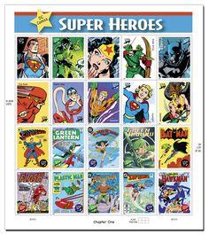 US Super Heroes stamps