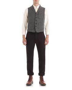 Cotton Houndstooth Waist Coat £130 by Jigsaw Menswear http://www.jigsaw-online.com/products/cotton-houndstooth-waist-coat-7415