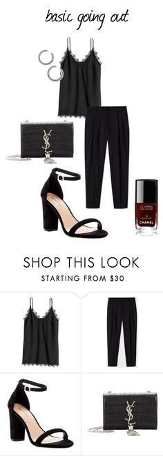 """""""basic going out."""" by uselessdk ❤ liked on Polyvore featuring Paul Smith, Call it SPRING, Yves Saint Laurent, Chanel, party, goingout and Minimaliststyle"""