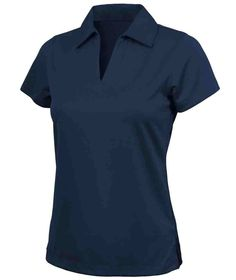 Charles River Apparel Style 2213 Women's Smooth Knit Solid Wicking Polo - SweatshirtStation.com #ladiesgolfshirt #navypolo #womenspolo