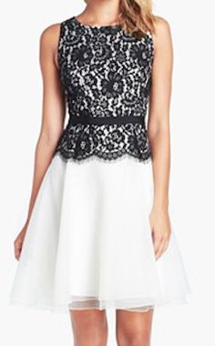 lace bodice fit and flare dress  http://rstyle.me/n/ezpzypdpe