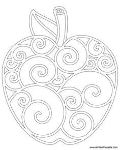 Coloring Page Apple Coloring Page . I know it's a colouring age but this would be old to zentangleApple Coloring Page . I know it's a colouring age but this would be old to zentangle Apple Coloring Pages, Colouring Pages, Coloring Books, Fall Coloring Sheets, Beaded Embroidery, Embroidery Patterns, Hand Embroidery, Machine Embroidery, Knitting Patterns