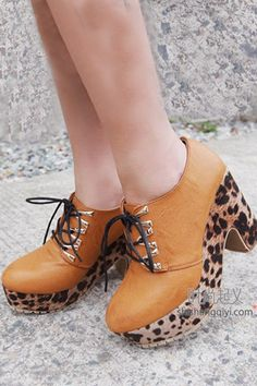 Leopard Print Ankle Boots   $70.00