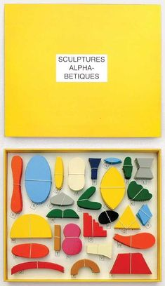Paul Cox - Sculptures Alphabetiques, jeu de construction