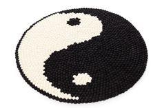 Custom Rug on RugThis Ying Y Yang, Felt Ball Rug, Custom Rugs, Love Home, Rug Hooking, New Room, Tool Design, Handmade Rugs, Design Your Own