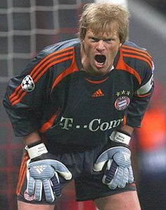Oliver Kahn, Germany (Karlsruher SC, Bayern München, Germany) #soccer #goalkeeper #greatsave #goalkeepingismylife