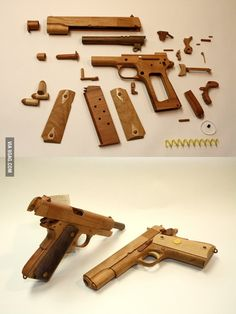 Amazing M1911A1 made of wood - 9GAG