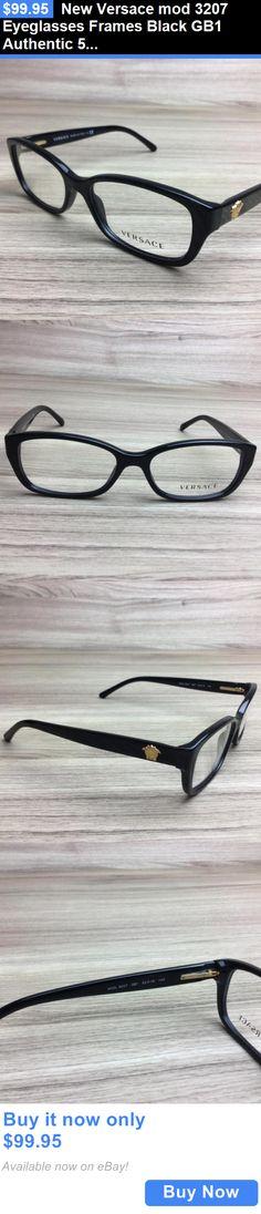 aa4e3d0d9b60 Eyeglass Frames  New Versace Mod 3207 Eyeglasses Frames Black Gb1 Authentic  52Mm BUY IT NOW
