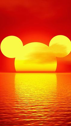 Mickey sunset
