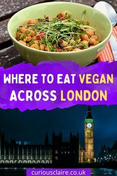 A great selection of vegan friendly restaurants across London, from chain restaurants found all over London, to small indepedent restaurants #travel #london #vegan #londontravel #veganuary #veganfood #food | Vegan London | Vegan Restaurants | London Restaurants | Vegan Friendly London | Where to Eat in London | Restaurants in London | London Travel | Vegan Travel Vegan Restaurants London, Vegan Friendly Restaurants, Europe Travel Tips, Travel Guides, Vegan Food, Vegan Recipes, Vegan London, Global Food, Restaurant Guide