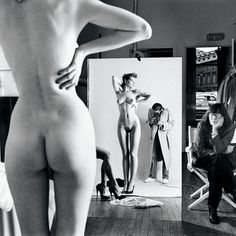 Helmut Newton, Self Portrait with Wife and Models, Vogue Studio, Paris, 1981. HQ. #selfportraitphotography,