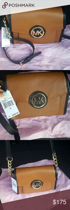 Michael Kors messenger Authentic Michael Kors messenger bag Brown and Black Michael Kors Bags Satchels