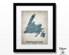 Newfoundland Canada Map Print - Home Is Where The Heart Is Love Map - Personalized Map Print Available in Multiple Size and Color Options by TRPrints on Etsy