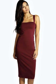69267cd2b865 Jen Square Neck Bodycon Midi Dress Vestido Bodycon, Bodycon Dress, Day  Dresses, Evening