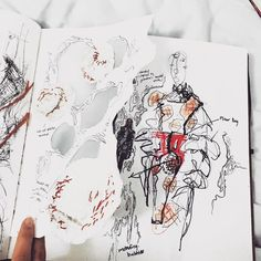 ARTS THREAD Profile - ARTS THREAD Sketchbook Layout, Textiles Sketchbook, Fashion Design Sketchbook, Fashion Design Portfolio, Fashion Illustration Sketches, Sketchbook Inspiration, Art Portfolio, Fashion Sketches, Medical Illustration
