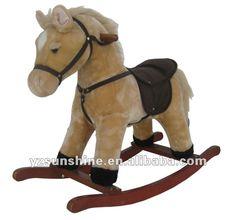 Cavalo de balanço do luxuoso com gallop som