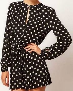 Polka Dot Back Split Jumpsuit