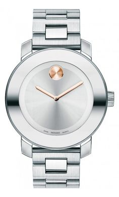 """WOW look at this """"Movado Bold"""" stainless steel and rose gold detail. I've always wanted a Movado, and I think this is the one I want!"""