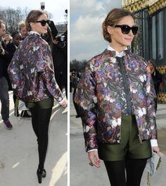 Olivia wearing Valentino AW14 jacket
