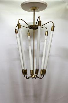 Bijzondere Hanglamp, jaren 40, minimalistisch design