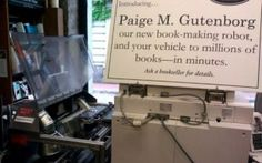 Harvard Book Store allows its customers to quickly and easily print out copies of books on its sales floor with its Espresso Book Machine.