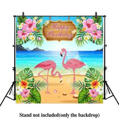 Allenjoy 5x5ft Let's Flamingle Flamingo Birthday party banner Backdrop photo or   Home & Garden, Greeting Cards & Party Supply, Party Supplies   eBay!