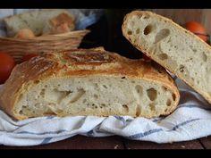 Pan casero fácil con harina común - YouTube Empanadas, Dried Fruit, Crepes, Bread Recipes, Banana Bread, Brunch, Vegetarian, Cooking, Breakfast