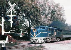 Delaware & Hudson Alco PA diesel electric locomotive # 19, is seen leading a passenger train at Waterford, New York, date unknown