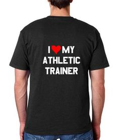 """""""I <3 My Athletic Trainer"""" t-shirts for sale from the Springfield College AT Club for Athletic Training Appreciation Month! $10"""