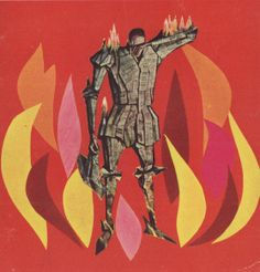 Cover art for Ray Bradbury's FAHRENHEIT 451 by Joseph Mugnaini