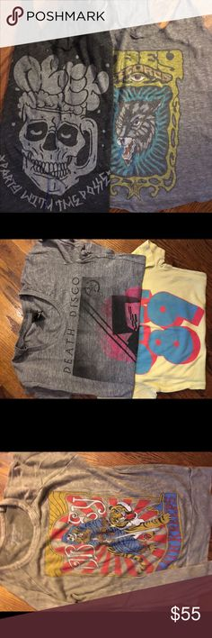 Obey bundle All loved obey graphics - 2 tanks 1 long sleeve -perfect for your obey collection Obey Tops